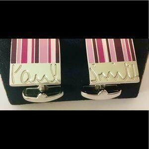 PAUL SMITH NEW Signature Stripe Cufflinks 40% off